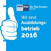 Wir sind Ausbildungsbetrieb 2014 - IHK Oberfranken Bayreuth