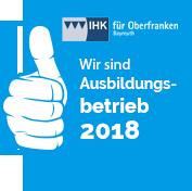 Wir sind Ausbildungsbetrieb 2017 - IHK Oberfranken Bayreuth