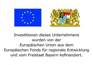 Hinweisschild EU+Bayern